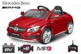 Mercedes CLA45 elektrische kinderauto 12v rood