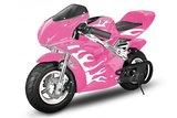 Racing mini pocket bike roze rose