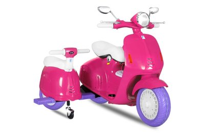 2-persoons Vespa-style kinderscooter