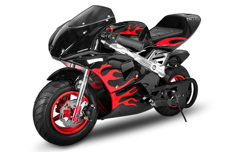 Racing Pocketbike - PS77 | Nieuw met Flamedesign!