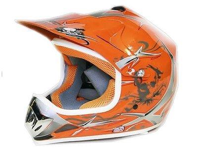 Xtreme Crosshelm - Oranje