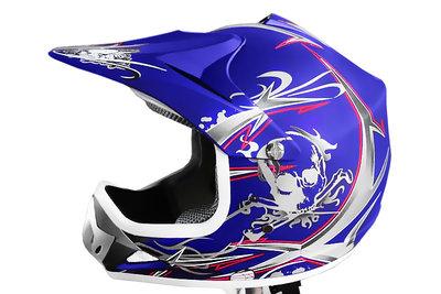 MAT blauw kinder cross motor helm